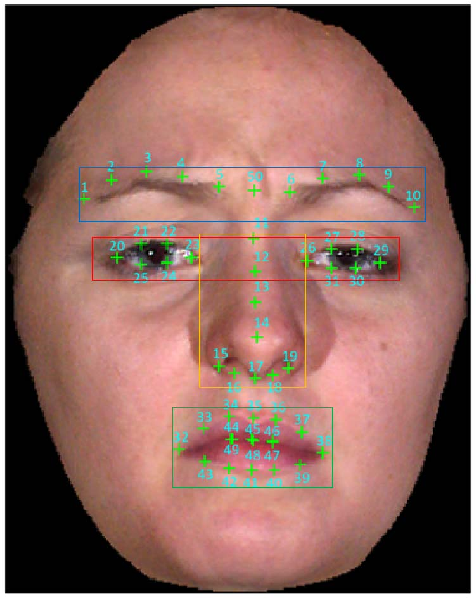 Figure 2 for Accurate Facial Parts Localization and Deep Learning for 3D Facial Expression Recognition