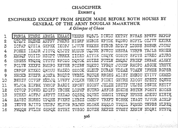 Figure 16 Exhibit 4 As Transmitted Showing The Keying Indicator And Ciphertext
