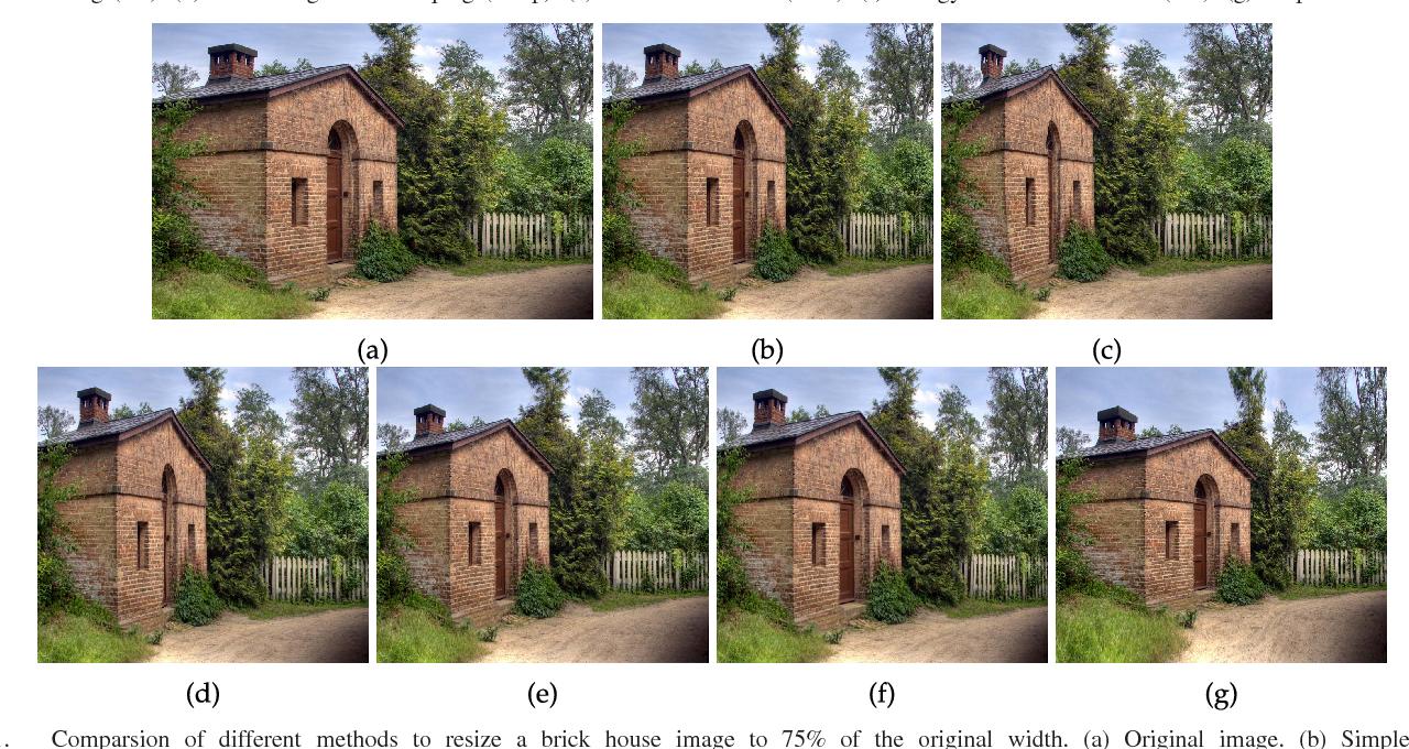 Figure 3 for Image retargeting via Beltrami representation