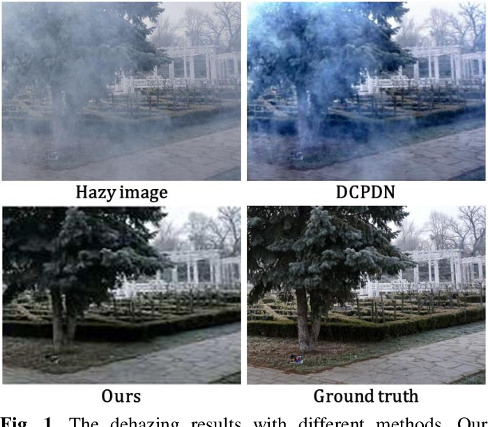 Figure 1 for Fully Non-Homogeneous Atmospheric Scattering Modeling with Convolutional Neural Networks for Single Image Dehazing