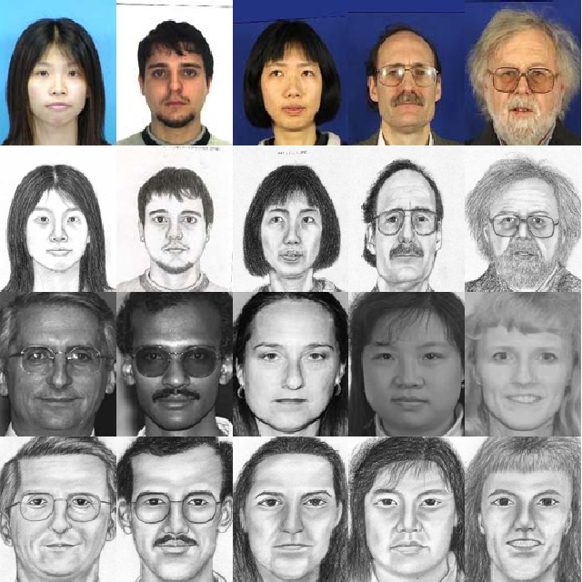 Figure 3 for Random Sampling for Fast Face Sketch Synthesis