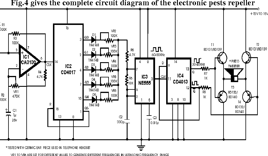 figure 4 from development and preliminary testing of an electronicfigure 4 complete circuit diagram of the designed electronic pests repeller