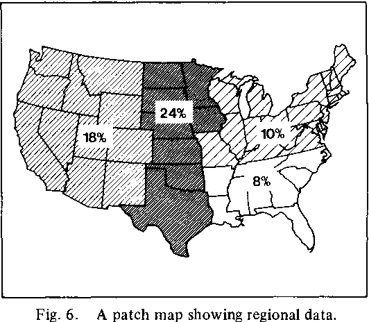 Fig. 6. A patch map showing regional data.