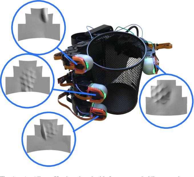 Figure 1 for Soft, Round, High Resolution Tactile Fingertip Sensors for Dexterous Robotic Manipulation