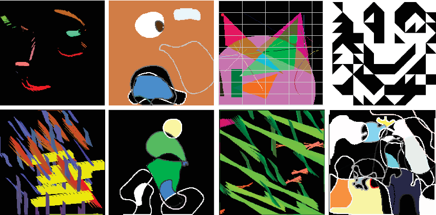 Figure 2 for Generative Art Using Neural Visual Grammars and Dual Encoders