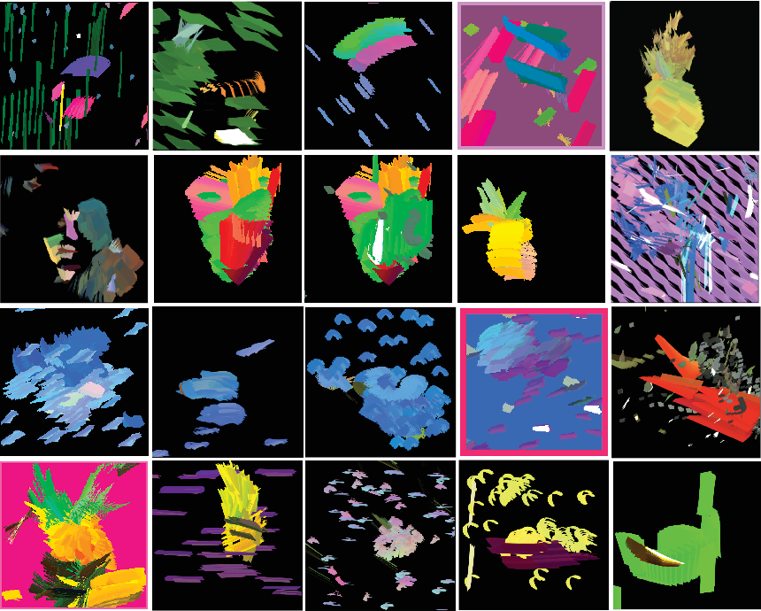Figure 3 for Generative Art Using Neural Visual Grammars and Dual Encoders