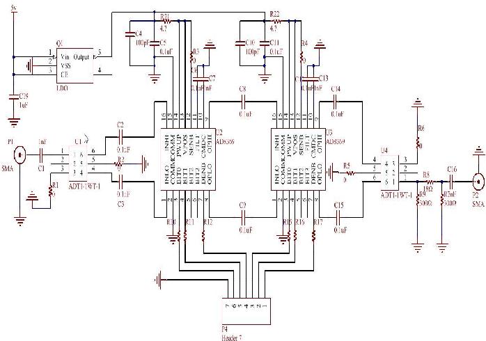 Figure 6.Principle diagram of the controllable gain amplifier system