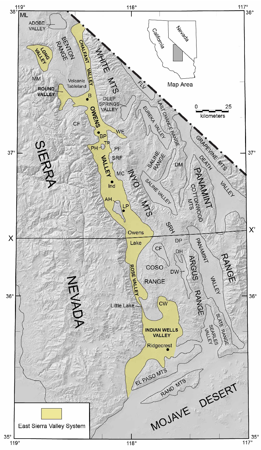 Figure 2 From Structural Evolution Of The East Sierra Valley System