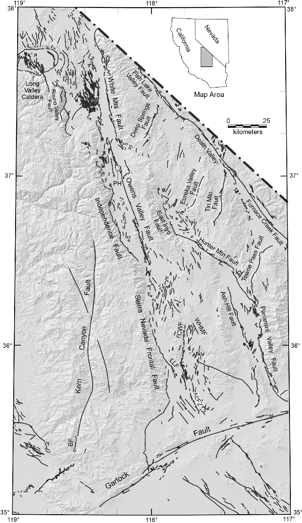Figure 3 From Structural Evolution Of The East Sierra Valley System