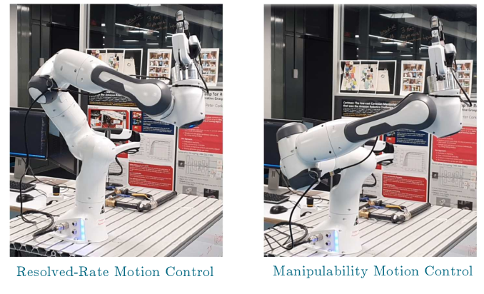 Figure 4 for Maximising Manipulability During Resolved-Rate Motion Control
