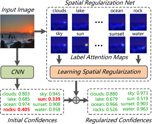 Figure 1 for Learning Spatial Regularization with Image-level Supervisions for Multi-label Image Classification