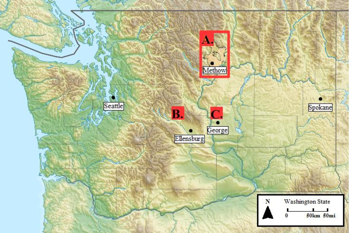 Fire Map Washington State 2017.Figure 1 From Effects Of Wildfires On Rattlesnake Crotalus Oreganus