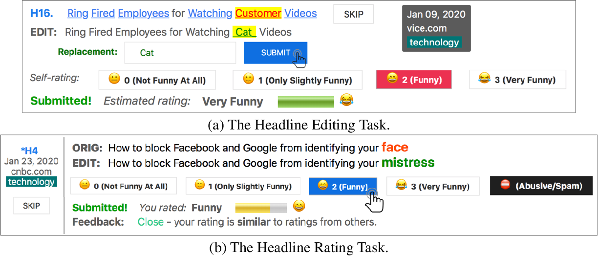 Figure 1 for Stimulating Creativity with FunLines: A Case Study of Humor Generation in Headlines