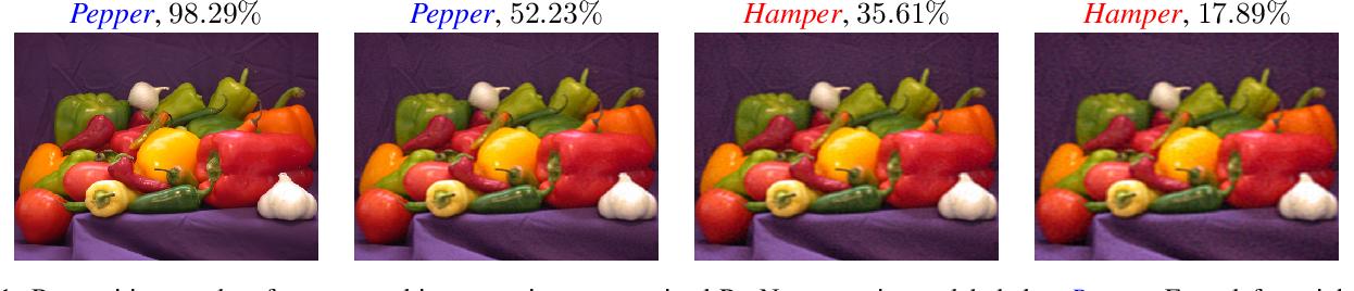 Figure 1 for Discernible Compressed Images via Deep Perception Consistency