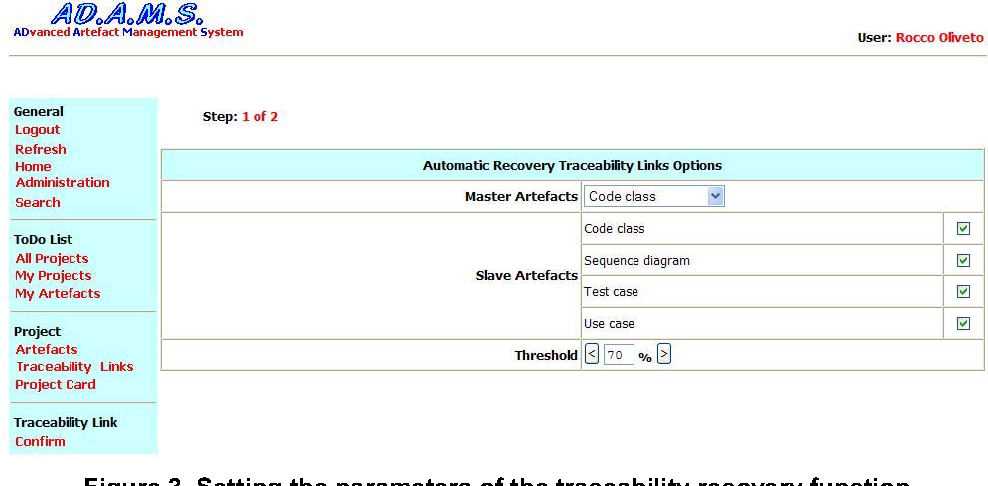 Adams re trace a traceability recovery tool semantic scholar figure 3 ccuart Image collections