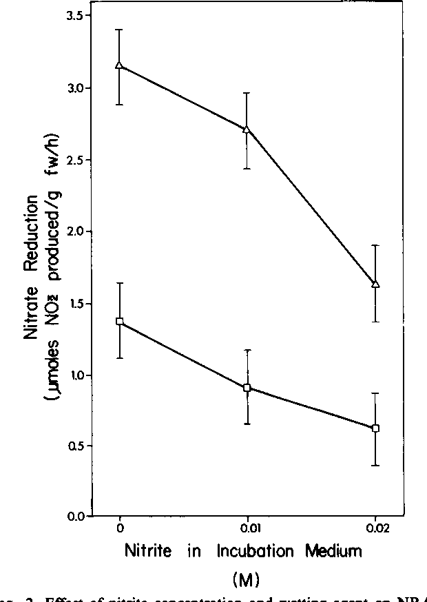 Figure 2 From 0 In Vivo Nitrite Reduction In Leaf Tissue Of