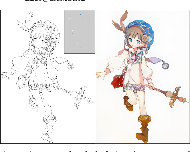 Figure 1 for User-Guided Deep Anime Line Art Colorization with Conditional Adversarial Networks