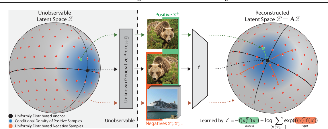 Figure 1 for Contrastive Learning Inverts the Data Generating Process