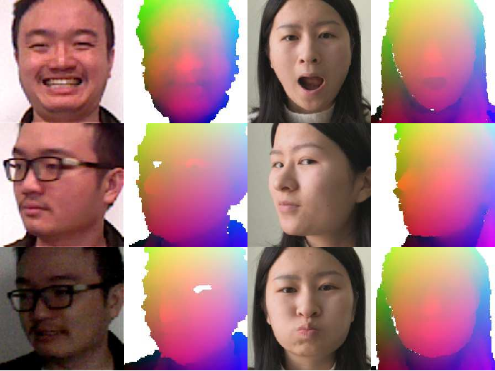 Figure 3 for Self-supervised CNN for Unconstrained 3D Facial Performance Capture from an RGB-D Camera