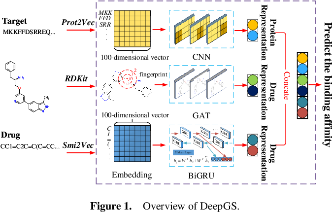 Figure 1 for DeepGS: Deep Representation Learning of Graphs and Sequences for Drug-Target Binding Affinity Prediction