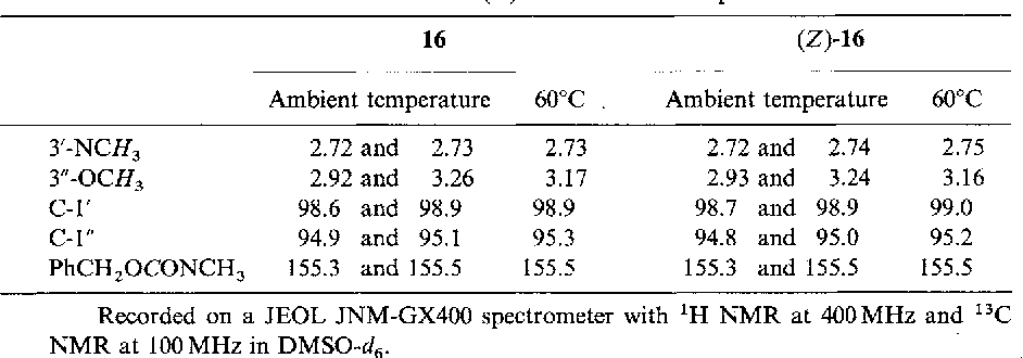Table 6 From Chemical Modification Of Erythromycins Ix Selective