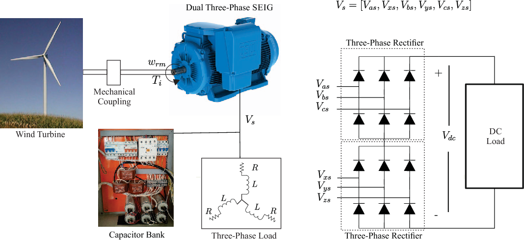 Fig. 3. Block diagram of an DTP SEIG for WECS.