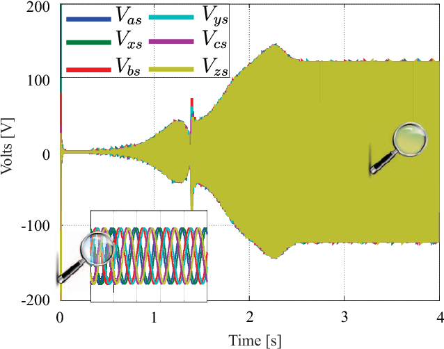 Fig. 4. Output voltage of the DTP SEIG with no load.