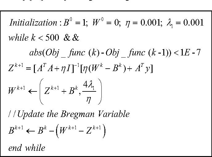 Figure 2 for Matrix recovery using Split Bregman