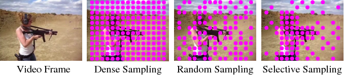 Figure 1 for Feature Sampling Strategies for Action Recognition