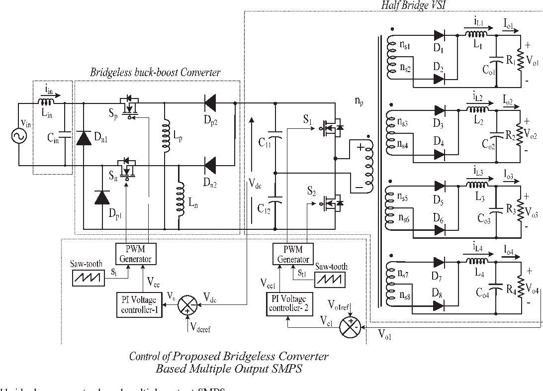 Figure 2 from Improved-Power-Quality Bridgeless-Converter-Based