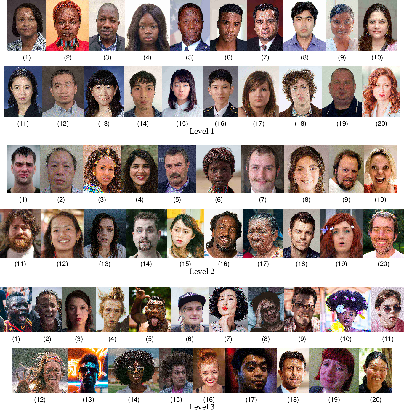 Figure 2 for NPRportrait 1.0: A Three-Level Benchmark for Non-Photorealistic Rendering of Portraits