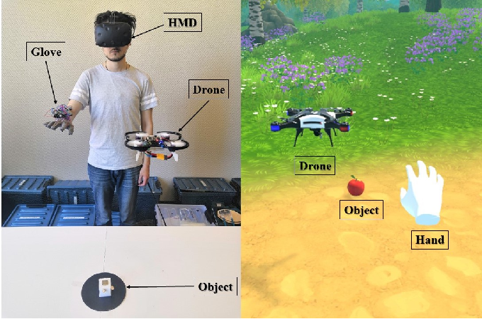 Figure 1 for DronePick: Object Picking and Delivery Teleoperation with the Drone Controlled by a Wearable Tactile Display