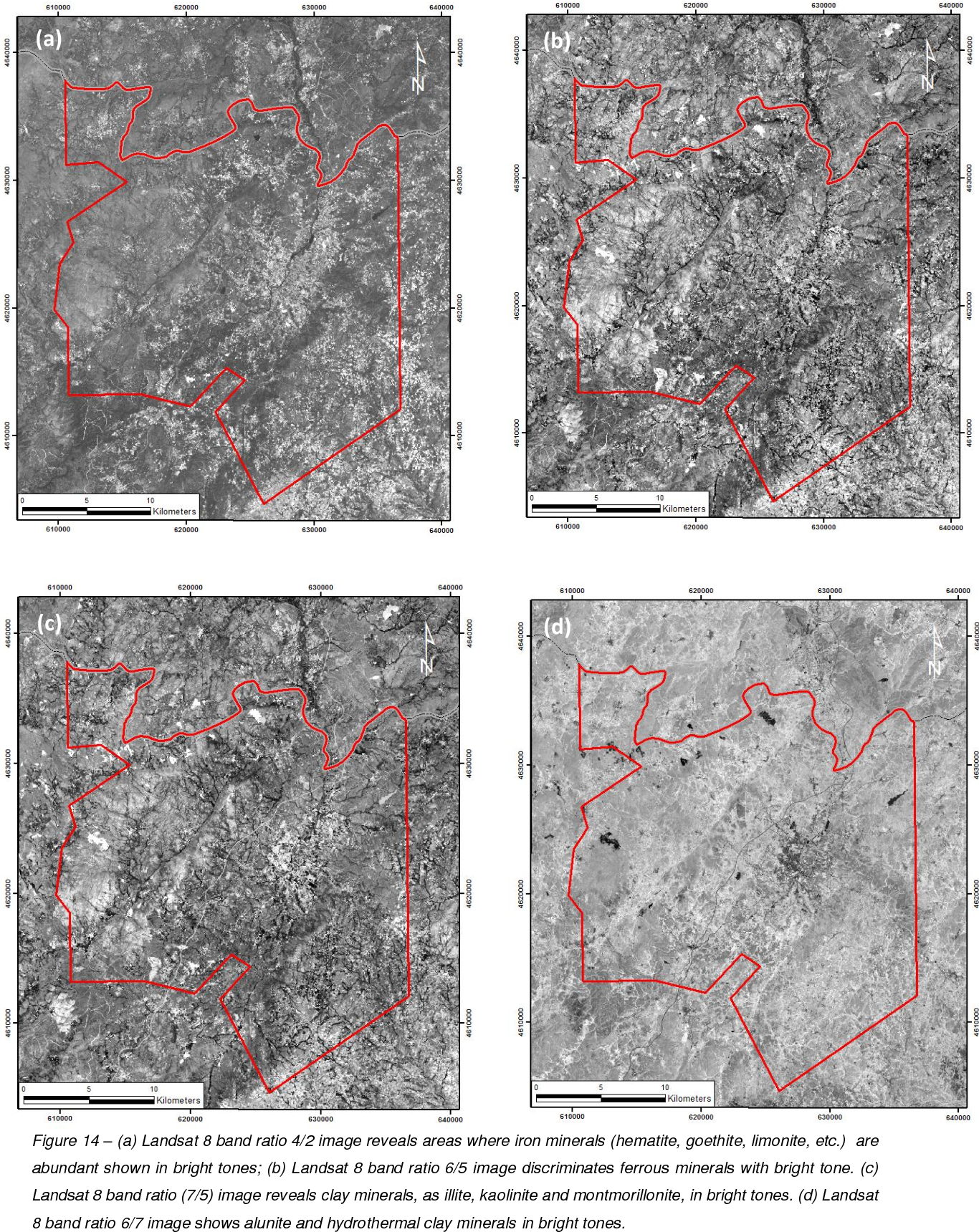 Figure 14 from Mapping hydrothermal gold mineralization using