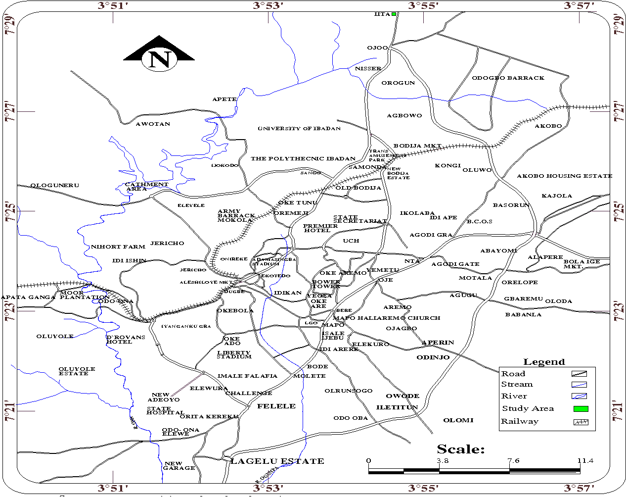 Map Of Ibadan City Figure 1 from Susceptibility of Anopheles gambiae sensu lato