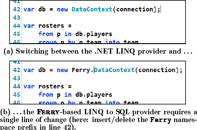 PDF] Thirteen New Players in the Team: A Ferry-based LINQ to SQL