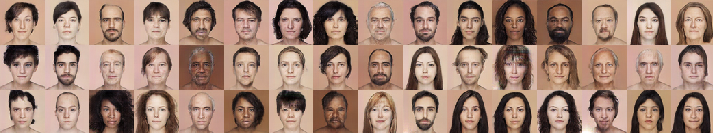 Figure 3 for Learning a face space for experiments on human identity