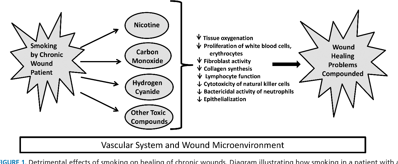 smoking chronic wound healing and implications for evidence based