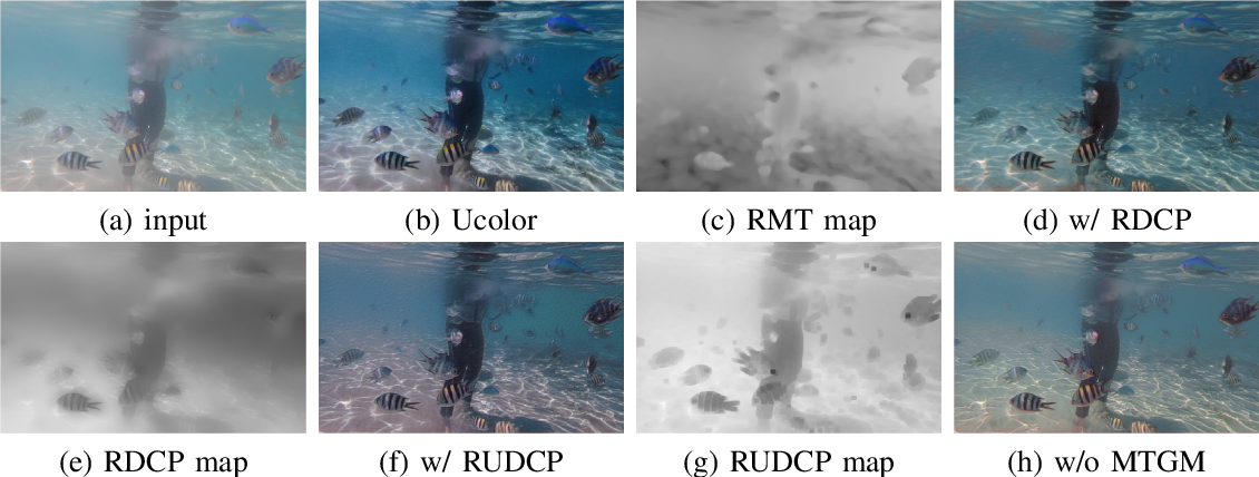 Figure 4 for Underwater Image Enhancement via Medium Transmission-Guided Multi-Color Space Embedding