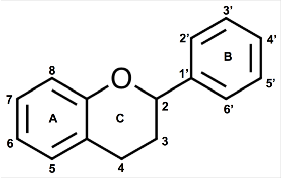 Figure 1. Flavonoid ring structure and numbering.