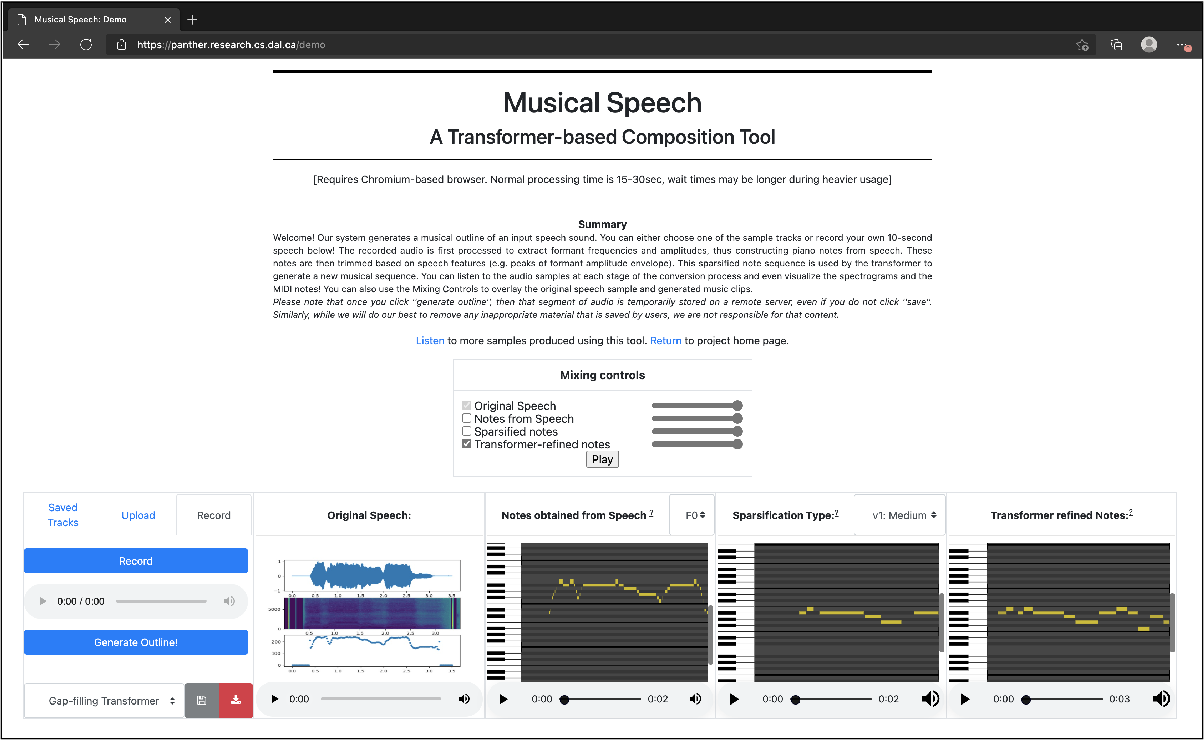 Figure 4 for Musical Speech: A Transformer-based Composition Tool