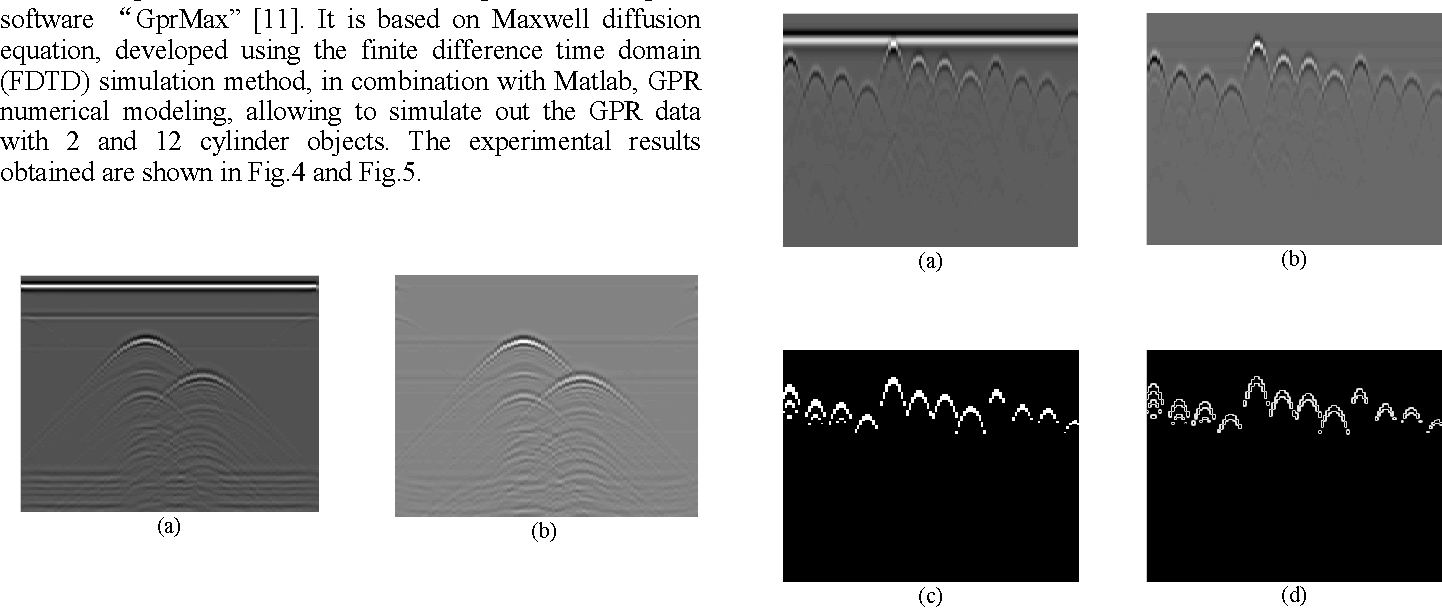 The target detection for GPR images based on curve fitting