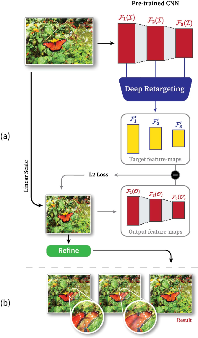 Figure 3 for Image Resizing by Reconstruction from Deep Features