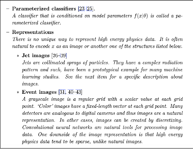 Figure 1 for A Living Review of Machine Learning for Particle Physics