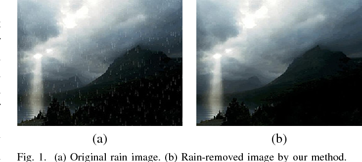 Figure 1 for Rain Removal By Image Quasi-Sparsity Priors