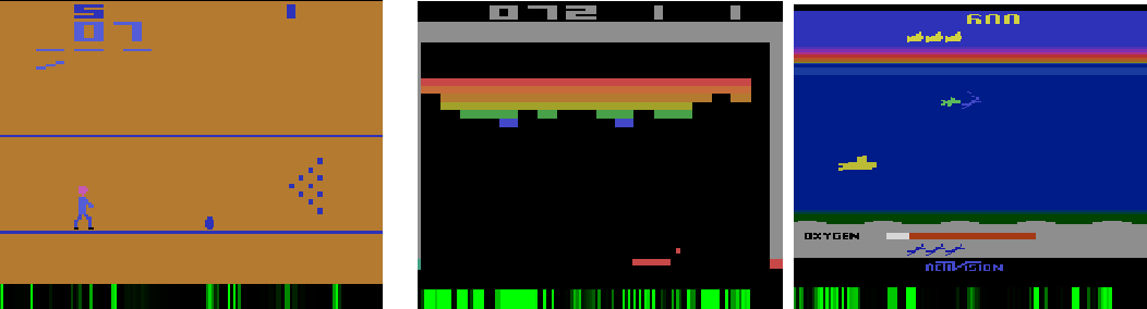Figure 1 for Learning from the memory of Atari 2600