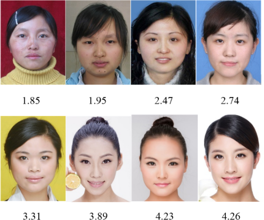 Figure 1 for A new humanlike facial attractiveness predictor with cascaded fine-tuning deep learning model