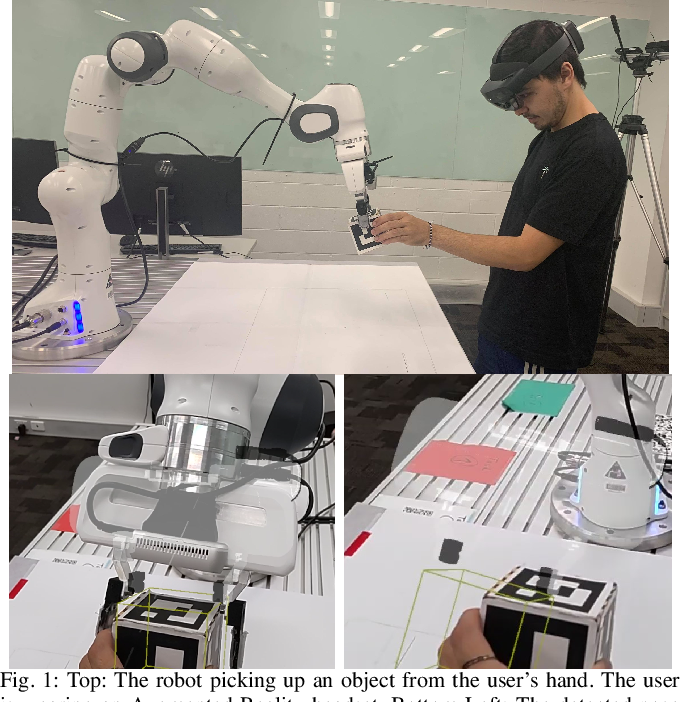 Figure 1 for Visualizing Robot Intent for Object Handovers with Augmented Reality