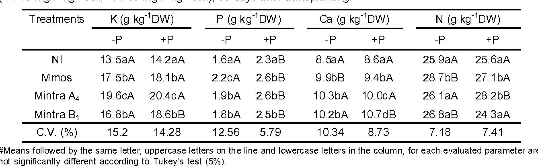 Table 3 From Mycorrhizal Fungi Inoculation And Phosphorus Fertilizer