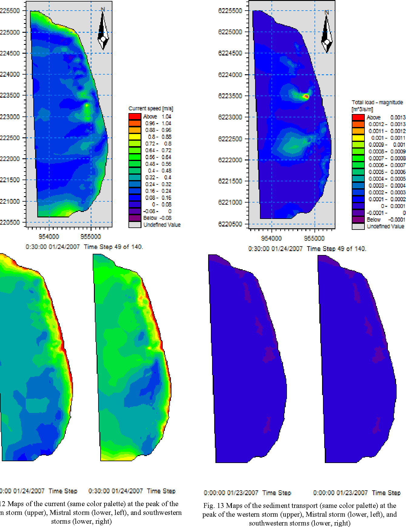 Analysis of a coupled hydro sedimentological numerical model for figure 13 pooptronica