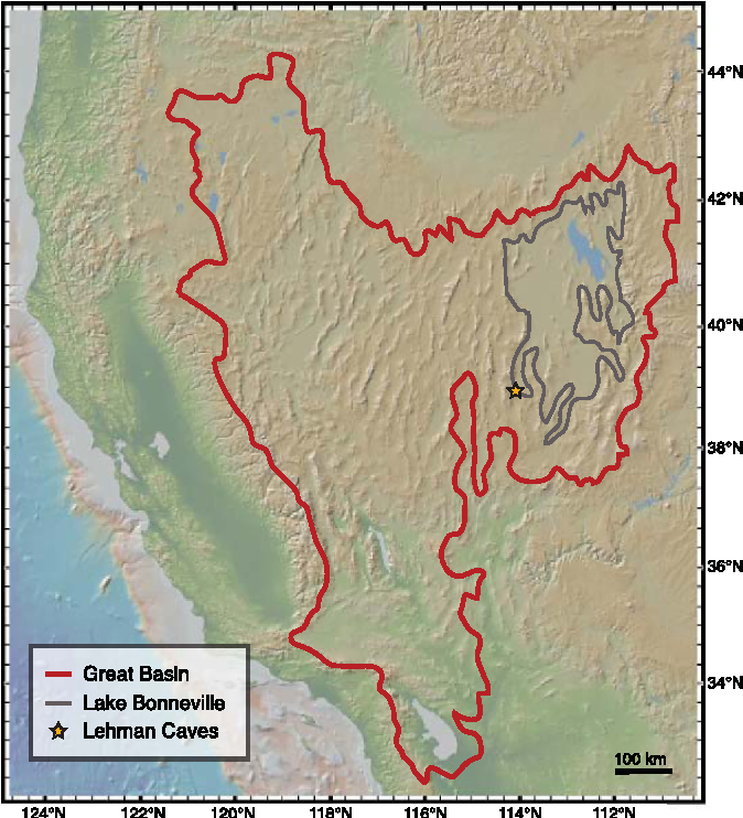 Figure 1 From Mid Holocene Drying Of The Us Great Basin Recorded - Great-basin-on-us-map
